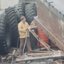 [1988 ivory carver; BIMA dredge at Nome]