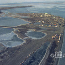 [Air shots of Kotzebue 1981]