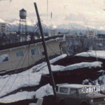 [Aftermath of 1964 earthquake in Anchorage]